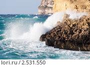 Морские волны и скалы. Стоковое фото, фотограф Яков Филимонов / Фотобанк Лори
