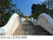 Купить «Лестница в буддийский храм», эксклюзивное фото № 2533494, снято 11 декабря 2008 г. (c) Татьяна Белова / Фотобанк Лори