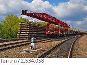 Купить «Секции железнодорожного полотна», фото № 2534058, снято 6 мая 2011 г. (c) Швадчак Василий / Фотобанк Лори