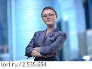Портрет молодой привлекательной деловой женщины. Стоковое фото, фотограф ingret (Ира Бачинская) / Фотобанк Лори