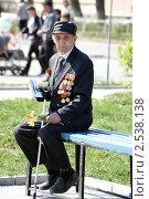 Купить «Ветеран на празднике 9 мая 2011 года», фото № 2538138, снято 9 мая 2011 г. (c) Ольга Вьюшкова / Фотобанк Лори