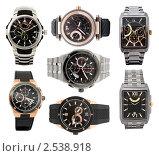 Набор из различных мужских часов. Стоковое фото, фотограф Александр Подшивалов / Фотобанк Лори