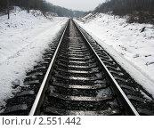 Железная дорога. Стоковое фото, фотограф Тарас Полищук / Фотобанк Лори