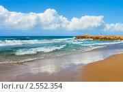 Купить «Морской пейзаж, Греция, остров Крит», фото № 2552354, снято 8 сентября 2010 г. (c) ElenArt / Фотобанк Лори