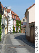 Улочки немецкого города Зенфтенберг. Редакционное фото, фотограф Sergey Kohl / Фотобанк Лори