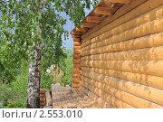 Строительство загородного дома из бревен. Стоковое фото, фотограф Юрий Морозов / Фотобанк Лори