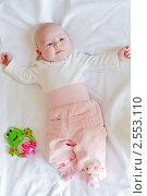 Купить «Маленькая новорожденная девочка», фото № 2553110, снято 4 апреля 2011 г. (c) Анна Лурье / Фотобанк Лори