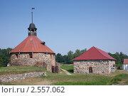 Приозерск, Круглая башня (2010 год). Редакционное фото, фотограф Евгений Медведев / Фотобанк Лори