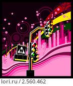 Светофор с сердечками. Стоковая иллюстрация, иллюстратор Николаев Олег / Фотобанк Лори