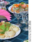 Купить «Блины и бутерброды», фото № 2561806, снято 28 мая 2011 г. (c) Федор Королевский / Фотобанк Лори