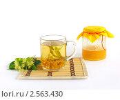 Купить «Липовый чай с медом», фото № 2563430, снято 4 июля 2009 г. (c) Елена Завитаева / Фотобанк Лори