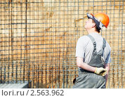 Купить «Строитель», фото № 2563962, снято 25 июня 2019 г. (c) Дмитрий Калиновский / Фотобанк Лори