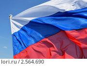 Купить «Российский флаг», фото № 2564690, снято 24 апреля 2011 г. (c) Александр Гаврилов / Фотобанк Лори