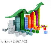 Купить «3D-график, показывающий рост прибыли или выручки», иллюстрация № 2567402 (c) Юдин Владимир / Фотобанк Лори