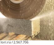 Производство каменной облицовочной плитки. Стоковое фото, фотограф Лысенко Владимир / Фотобанк Лори