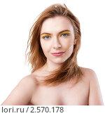 Девушка с ярким макияжем. Стоковое фото, фотограф Анисимов Леонид / Фотобанк Лори