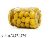 Купить «Консервированные оливки», фото № 2571374, снято 16 ноября 2009 г. (c) Elnur / Фотобанк Лори