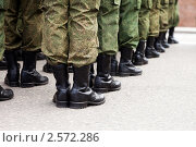 Служба в армии - строй солдат в униформе. Стоковое фото, фотограф Илья Андриянов / Фотобанк Лори