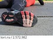 Купить «Биатлонистка на тренировке», фото № 2572982, снято 26 мая 2011 г. (c) Анатолий Матвейчук / Фотобанк Лори