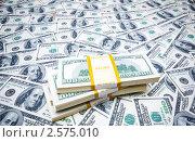 Купить «Фон из долларов», фото № 2575010, снято 23 февраля 2020 г. (c) Elnur / Фотобанк Лори