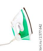 Купить «Утюг на белом фоне», фото № 2577642, снято 31 мая 2011 г. (c) Юрий Плющев / Фотобанк Лори
