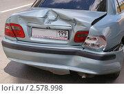 Купить «Задняя часть разбитого автомобиля после аварии», фото № 2578998, снято 24 мая 2011 г. (c) Павел Кричевцов / Фотобанк Лори