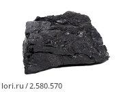 Каменный уголь на белом фоне. Стоковое фото, фотограф Дмитрий Сечин / Фотобанк Лори