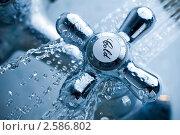 Водопроводный смеситель. Стоковое фото, фотограф Василий Повольнов / Фотобанк Лори