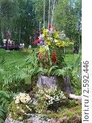 Купить «Фестиваль флористики «Цветень», букеты и композиции из цветов на фоне природы», фото № 2592446, снято 4 июля 2010 г. (c) ElenArt / Фотобанк Лори