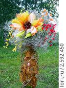 Купить «Фестиваль флористики «Цветень», букеты и композиции из цветов на фоне природы», фото № 2592450, снято 4 июля 2010 г. (c) ElenArt / Фотобанк Лори