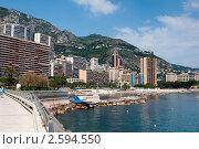 Купить «Городской пляж в Монако», фото № 2594550, снято 23 мая 2011 г. (c) Алексей Зарубин / Фотобанк Лори