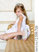Принцесса на диване. Стоковое фото, фотограф Ольга Шабалкина / Фотобанк Лори