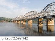 Купить «Красноярск. Железнодорожный мост через Енисей», эксклюзивное фото № 2599942, снято 23 марта 2019 г. (c) Шичкина Антонина / Фотобанк Лори