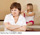 Женщины после ссоры  дома. Стоковое фото, фотограф Яков Филимонов / Фотобанк Лори