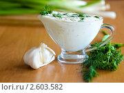 Купить «Соус с чесноком и зеленью», фото № 2603582, снято 14 апреля 2009 г. (c) Величко Микола / Фотобанк Лори