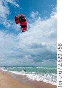 Купить «Морской пейзаж с серфингистом», фото № 2620758, снято 15 июня 2011 г. (c) Володина Ольга / Фотобанк Лори