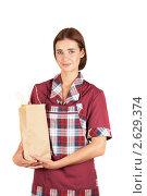 Купить «Девушка-продавец», фото № 2629374, снято 15 октября 2019 г. (c) Jan Jack Russo Media / Фотобанк Лори
