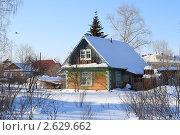 Купить «Маленький дачный домик», эксклюзивное фото № 2629662, снято 20 февраля 2011 г. (c) Анатолий Матвейчук / Фотобанк Лори