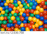Пластмассовые цветные шарики. Стоковое фото, фотограф Александр Кадацкий / Фотобанк Лори