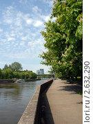 Купить «Калининград. Цветущие каштаны на набережной реки Преголя», эксклюзивное фото № 2632290, снято 19 мая 2011 г. (c) Svet / Фотобанк Лори