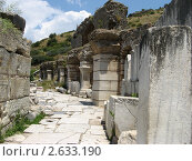Улица древнего города, Эфес, Турция (2010 год). Стоковое фото, фотограф Александр Верховцев / Фотобанк Лори