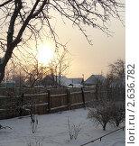Утро в деревне. Стоковое фото, фотограф Олег Яковлев / Фотобанк Лори