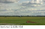 Купить «Посадка самолета», видеоролик № 2638154, снято 21 сентября 2009 г. (c) Алексас Кведорас / Фотобанк Лори