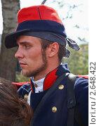 Участник реконструкции Альминского сражения (2010 год). Редакционное фото, фотограф Кирилл Губа / Фотобанк Лори
