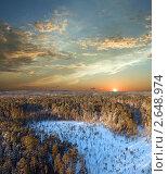 Купить «Закат в тайге», фото № 2648974, снято 6 января 2008 г. (c) Георгий Shpade / Фотобанк Лори