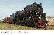 Купить «Старый поезд с паровым двигателем», видеоролик № 2651430, снято 3 июня 2011 г. (c) Алексей Кузнецов / Фотобанк Лори