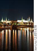 Московский Кремль ночью, фото № 2651678, снято 8 июня 2011 г. (c) Угоренков Александр / Фотобанк Лори