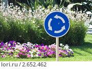 Знак кругового движения. Стоковое фото, фотограф Иван Губанов / Фотобанк Лори