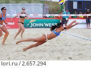 Пляжный волейбол (2011 год). Редакционное фото, фотограф Петр Крупенников / Фотобанк Лори