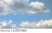 Купить «Облака на фоне синего неба. Таймлапс.», видеоролик № 2659966, снято 16 июня 2010 г. (c) Арсений Герасименко / Фотобанк Лори